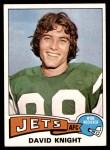 1975 Topps #447  David Knight  Front Thumbnail