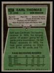 1975 Topps #487  Earl Thomas  Back Thumbnail