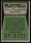 1975 Topps #522  Bill Olds  Back Thumbnail