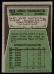 1975 Topps #419  Chris Hanburger  Back Thumbnail