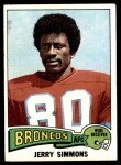 1975 Topps #432  Jerry Simmons  Front Thumbnail