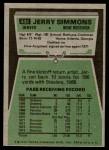 1975 Topps #432  Jerry Simmons  Back Thumbnail