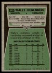 1975 Topps #469  Wally Hilgenberg  Back Thumbnail