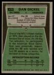1975 Topps #476  Dan Dickel  Back Thumbnail