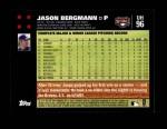 2007 Topps Update #96  Jason Bergmann  Back Thumbnail
