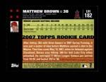 2007 Topps Update #182  Matthew Brown  Back Thumbnail