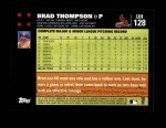 2007 Topps Update #128  Brad Thompson  Back Thumbnail