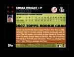 2007 Topps Update #164  Chase Wright  Back Thumbnail