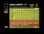 2007 Topps Update #9  Adam LaRoche  Back Thumbnail