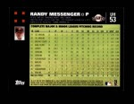 2007 Topps Update #53  Randy Messenger  Back Thumbnail