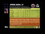 2007 Topps Update #104  Jorge Sosa  Back Thumbnail