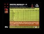 2007 Topps Update #129  Dustin Moseley  Back Thumbnail