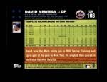 2007 Topps Update #108  David Newhan  Back Thumbnail