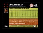 2007 Topps Update #135  Jose Molina  Back Thumbnail