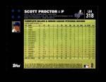 2007 Topps Update #318  Scott Proctor  Back Thumbnail