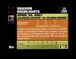 2007 Topps Update #209  Troy Tulowitzki  Back Thumbnail