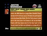 2007 Topps Update #285  Justin Morneau  Back Thumbnail