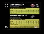 2007 Topps Update #281  Cole Hamels  Back Thumbnail