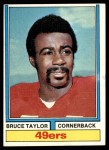 1974 Topps #241  Bruce Taylor  Front Thumbnail