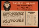 1961 Fleer #64  Johnny Mostil  Back Thumbnail