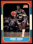 1986 Fleer #76  Johnny Moore  Front Thumbnail