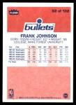 1986 Fleer #52  Frank Johnson  Back Thumbnail