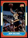 1986 Fleer #125  Herb Williams  Front Thumbnail