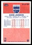 1986 Fleer #51  Eddie Johnson  Back Thumbnail