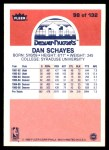 1986 Fleer #98  Danny Schayes  Back Thumbnail