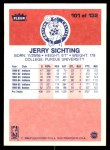 1986 Fleer #101  Jerry Sichting  Back Thumbnail