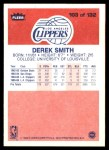 1986 Fleer #103  Derek Smith  Back Thumbnail