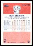 1986 Fleer #105  Rory Sparrow  Back Thumbnail