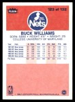 1986 Fleer #123  Buck Williams  Back Thumbnail