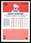 1986 Fleer #75  Sidney Moncrief  Back Thumbnail