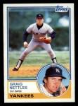 1983 Topps #635  Graig Nettles  Front Thumbnail
