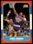 1986 Fleer #29  James Edwards  Front Thumbnail
