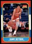 1986 Fleer #127  Randy Wittman  Front Thumbnail