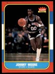 1986 Fleer #76  Johnny Moore  Front Thumbnail