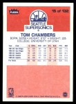 1986 Fleer #15  Tom Chambers  Back Thumbnail