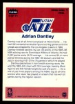 1986 Fleer Sticker #3  Adrian Dantley  Back Thumbnail