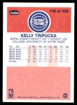 1986 Fleer #115  Kelly Tripucka  Back Thumbnail