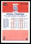 1986 Fleer #111  Mychal Thompson  Back Thumbnail