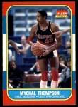 1986 Fleer #111  Mychal Thompson  Front Thumbnail