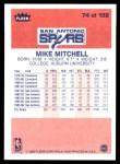 1986 Fleer #74  Mike Mitchell  Back Thumbnail