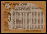 1981 Topps #42  Elvin Hayes  Back Thumbnail