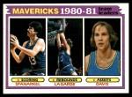 1981 Topps #48   -  Jim Spanarkel / Tom LaGarde / Brad Davis Mavericks Leaders Front Thumbnail
