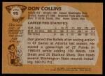 1981 Topps #95 E Don Collins  Back Thumbnail
