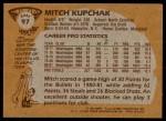 1981 Topps #97 E Mitch Kupchak  Back Thumbnail
