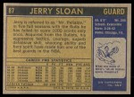 1971 Topps #87  Jerry Sloan   Back Thumbnail