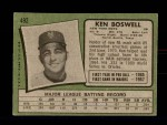 1971 Topps #492  Ken Boswell  Back Thumbnail